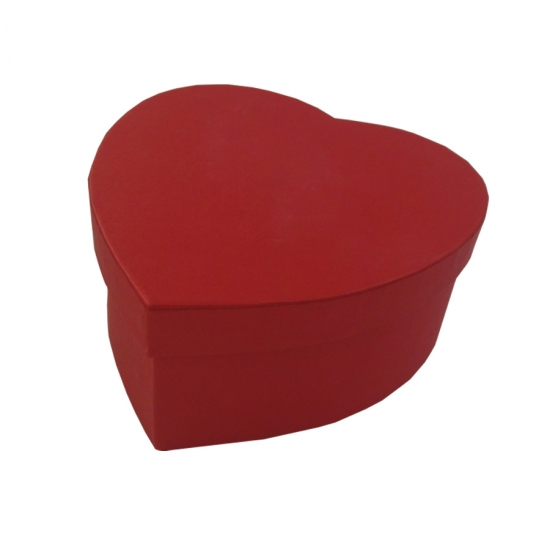 Red heart shaped gift boxes